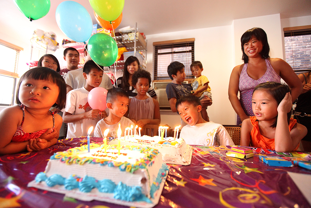 Birthday party in Chinatown, New York, 2011.