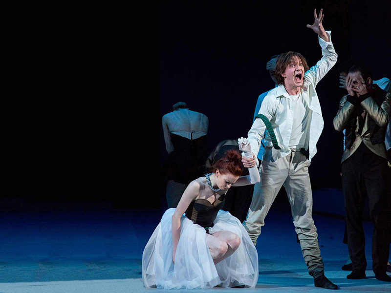 Ekaterina Krysanova and Vladislav Lantratov of the Bolshoi Ballet in The Taming of the Shrew.
