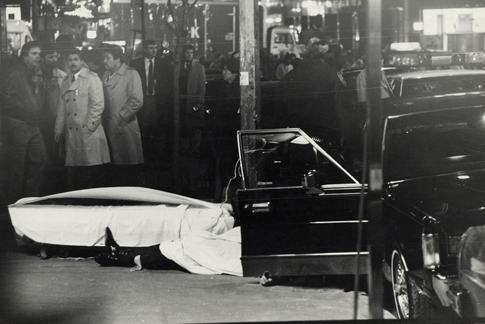 Body of Paul Castellano, East 46th St., 1985.